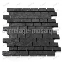Mosaique pour douche salle de bain et cuisine  Carbone Brick