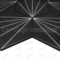 Carreaux ciment imitation carrelage decoration Fyler Noir