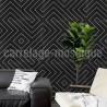 Carrelage style carreaux ciment Joyle Noir cuisine salle de bain