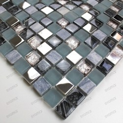 Glass and stone mosaic sample for shower