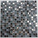 Glass and stone mosaic sample for shower Galb