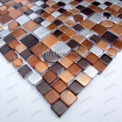 Cocina y ducha mosaico de Aluminio muestra trendy marron