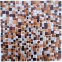 Splashback kitchen Aluminium mosaic sample trendy marron