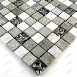 Stone mosaic shower bathroom sample
