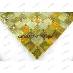Glass mosaic sample for shower
