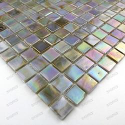 Mosaique salle de bain douche italienne Rainbow perle ech