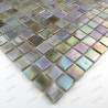 Glass mosaic sample for italian shower rainbow perle