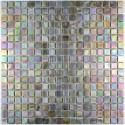 Glass mosaic sample for italian shower rainbow perle