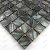 Mother of pearl mosaic sample for bathroom Nacre gris 23