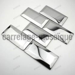 Tile Wall stainless steel splashback plate inox cm-metro mirror