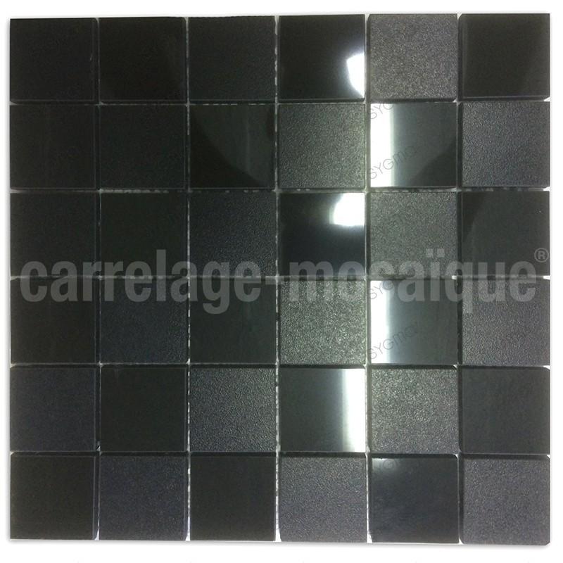 Mosaico de piedra para ducha italiana bano Carbone Reg48