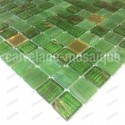 Mosaique salle de bain douche hammam Goldline Vert