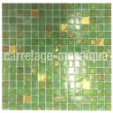 Crystal mosaic for hammam shower bathroom Goldline Vert