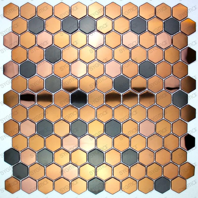 carrelage metal inox cuivre mur et sol duncan