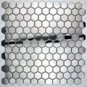 carreaux carrelage hexagon metal acier miroir et brossé in-yuri