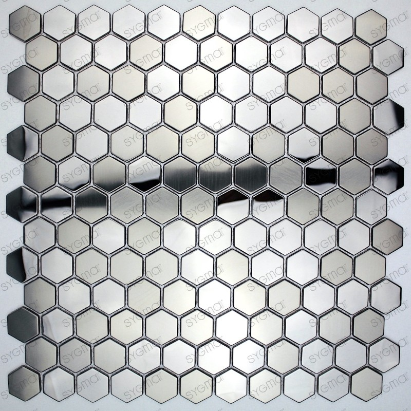 Carreaux Carrelage Hexagon Metal Acier Miroir Et Brosse In Yuri