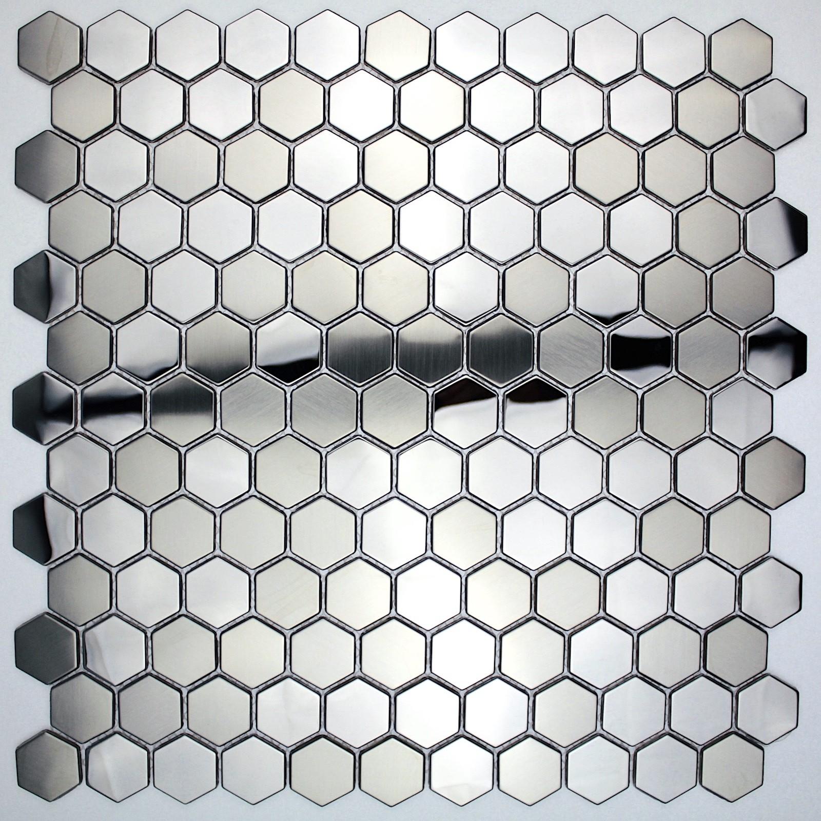 - Kitchen With A Honeycomb Mosaic Tile Backsplash - ERIGIESTUDIO