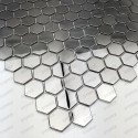 stainless steel hexagon tile backsplash kitchen mosaic in-yuri