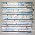 Aluminium mosaic wall backsplash kitchen and bathroom cm-blend-bleu