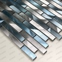 Aluminium mosaic wall backsplash kitchen and bathroom cm-blend-bleu