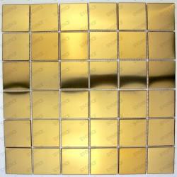 Mosaico en acero inoxydable cocina baño cm-REGULAR48 GOLD
