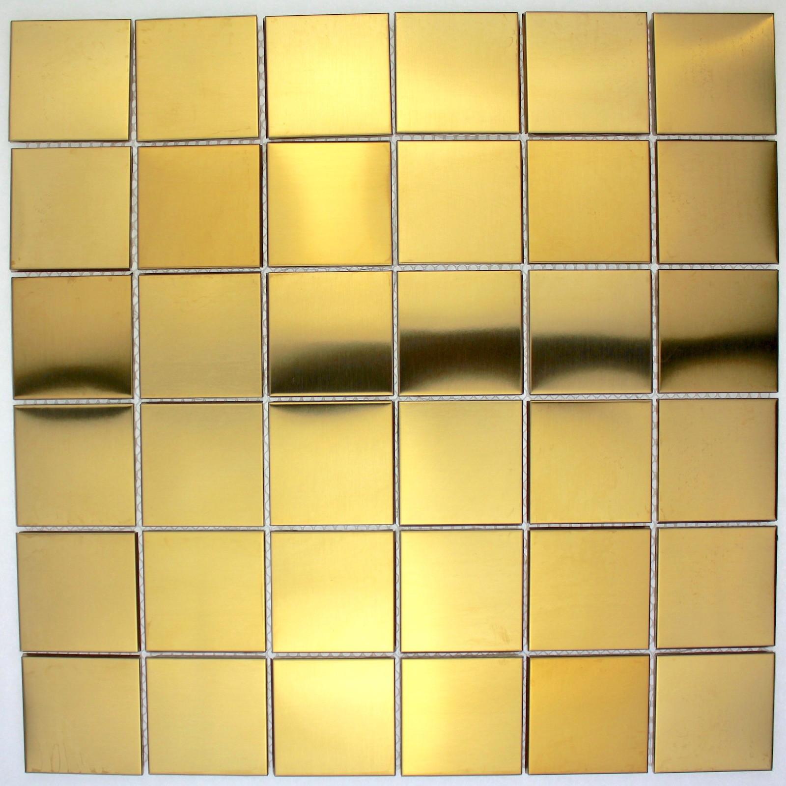 Plaque Sur Carrelage Cuisine carrelage en inox plaque cuisine credence cm-regular48 gold