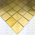 Mosaico en acero inoxydable modelo REGULAR48 GOLD
