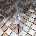 carrelage acier inoxydable metal modele stretto