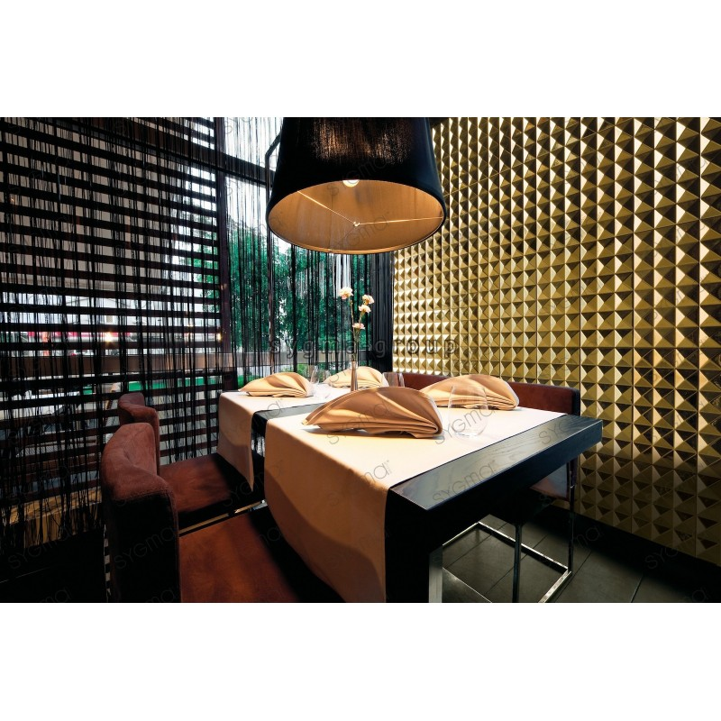 carrelage 3d en acier carreaux metal modele ramses or carrelage mosaique. Black Bedroom Furniture Sets. Home Design Ideas