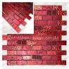 Muestra malla Mosaico cuarto de banos y cocina model metaliic brique rouge