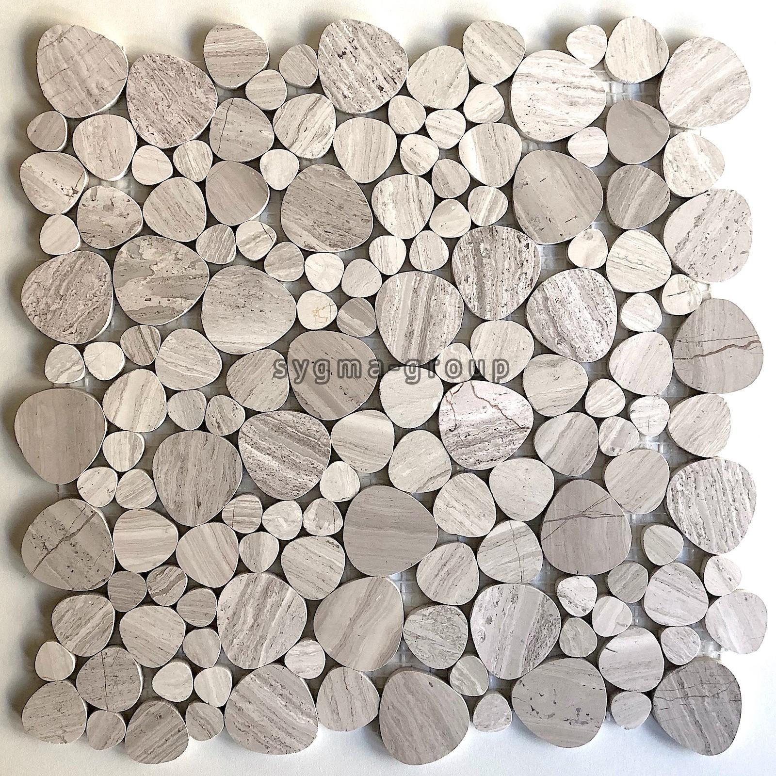 Carrelage En Galets Salle De Bain galets de marbre carrelage sol et mur mp-neferti - carrelage-mosaique
