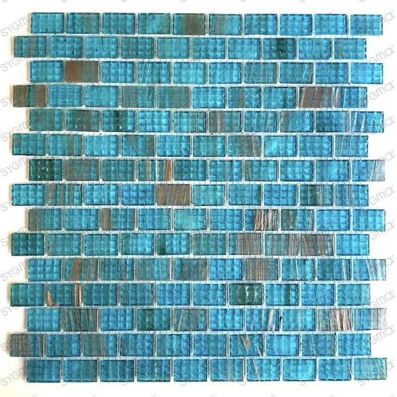 mosaique salle de bain carrelage bleu douche pdv-kameko - carrelage-mosaique