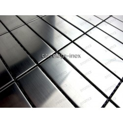 carrelage inox mosaique inox 1 plaque RECTANGULAR 74