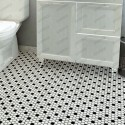 ceramic mosaic black and white floor and wall mp-daven