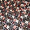 Mosaique en verre et pierre pour salle de bain et douche mvp-lava