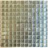 carreaux mosaique argent en verre pour mur hedra-argent