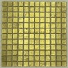 carreaux mosaique or en verre pour mur hedra-or