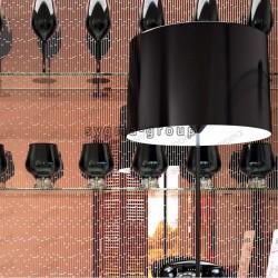 Mirror copper glass tile mosaic kitchne and bathroom wall mv-henrik-cuivre