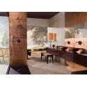 azulejos de vidrio cobre metálico muro cocina indivo-cuivre