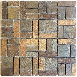 Slate Stone mosaic tile wall kitchen and bathroom mp-kinoa