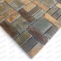 Slate Stone mosaic tile wall kitchen and bathroom mp-kinoa