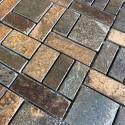 Faience mosaique ardoise salle de bain carrelage pierre mp-kinoa