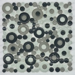 mosaique galets ronds en verre pour sol ou mur mv-wespa