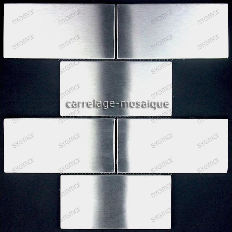 carrelage inox mosaique inox 1 plaque BRIQUE 150