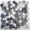 Mosaic aluminium pebble kitchen mosaic shower OCEO