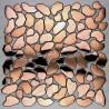 Galets carrelage metal inox cuivre mur et sol syrus cuivre mix