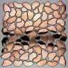 stainless steel pebble copper backsplash kitchen mosaic shower syrus cuivre mix
