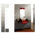 malla azulejo mosaico baño azul ducha NYLA