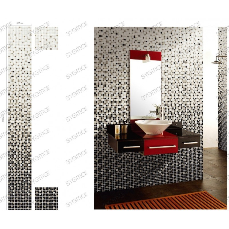 mosaique degrade salle de bain carrelage douche modele NYLA