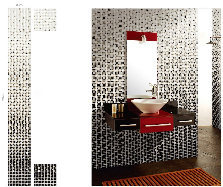 mosaique degrade salle de bain carrelage douche modele NYLA -  carrelage-mosaique